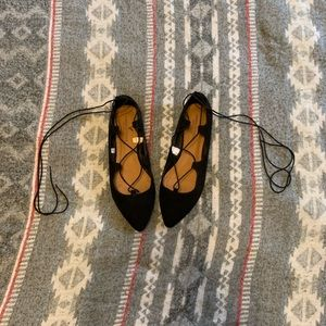 AE lace up flats
